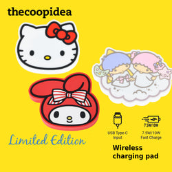 thecoopidea x Sanrio Hello Kitty My Melody Little Twin Stars Wireless Charging Pad Limited Edition