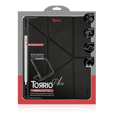 "TORRII Torrio Plus Folio Case for iPad Pro 12.9"" (2018) - Black"