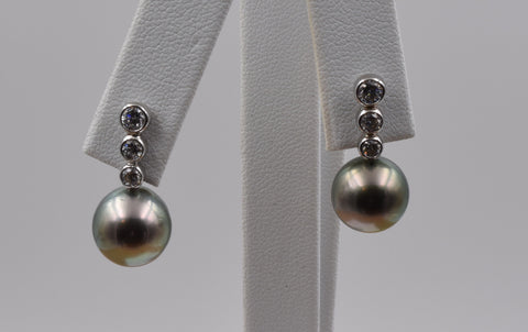 Round Pearl Earring - TPE016