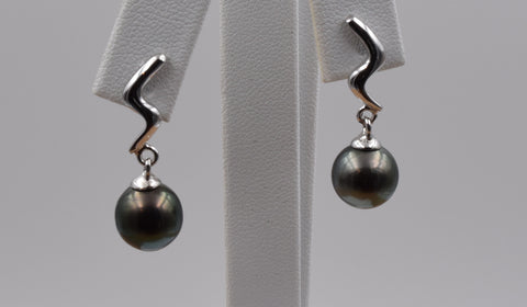 Round Pearl Earring - TPE018