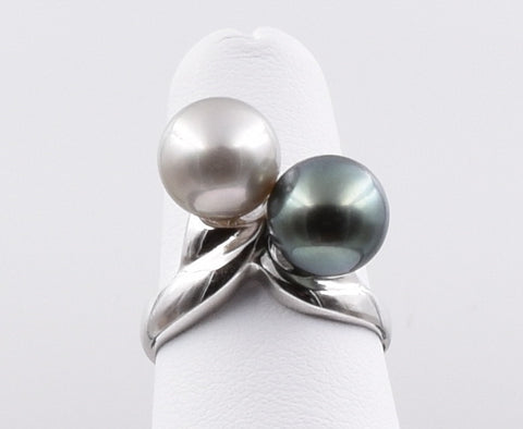 Double Pearl Ring - TPR021
