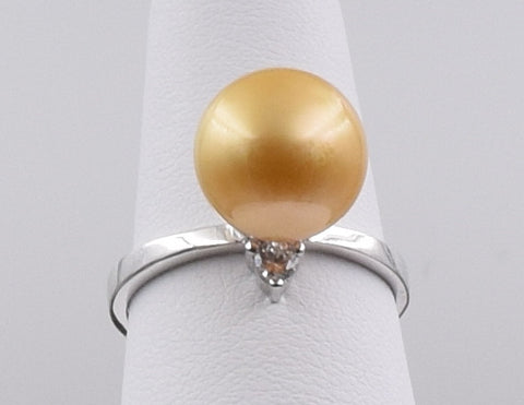 Golden Pearl Ring - GSR022