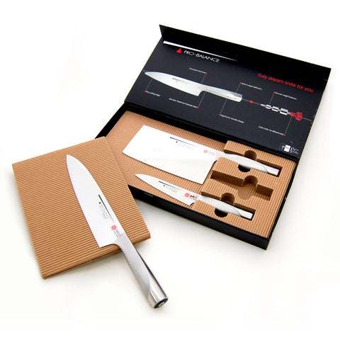 Chinese Knife 3pcs Set