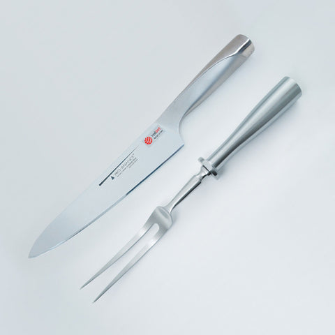20cm Carving Knife & Fork (Bent) Set