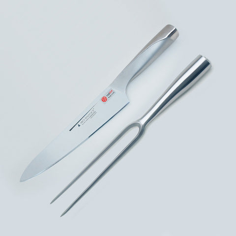 20cm Carving Knife & Fork (Straight) Set