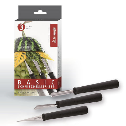"Carving Tool Set ""Basic"", 3 pieces"