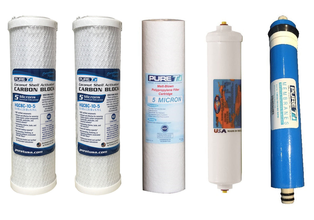 Reverse Osmosis Water Systems - 5 Stage Filters