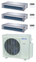SuperAir Model10 - SN36000D-3 Luxury Collection (Tri-Zone) Concealed Ducted / 36000BTU / 18 SEER / 3 TONS