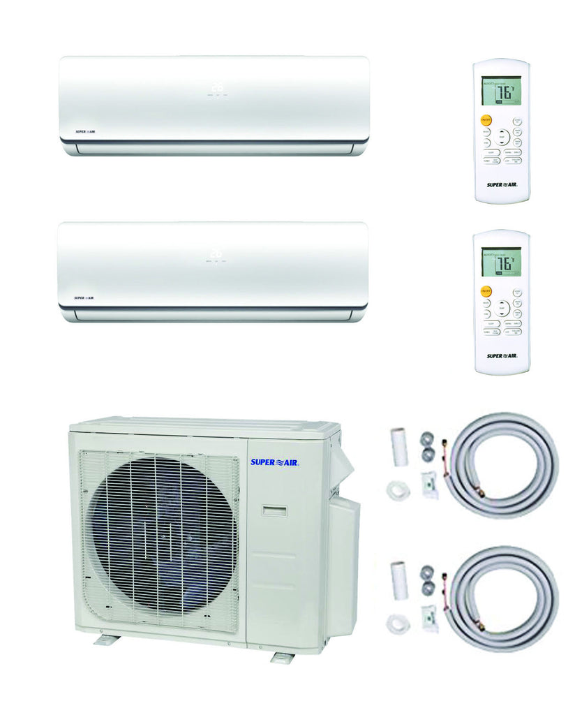SuperAir Model 7 - SN27000MIO-3 (Dual-Zone) Luxury Collection - 12000 BTU + 12000 BTU  /  23 SEER