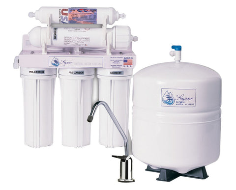 SuperAir Model-SN102 Reverse Osmosis 5 Stage Filtration System