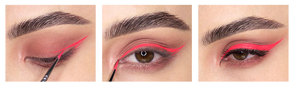How to Get the Perfect Hydra Liner Consistency for Winged Eyeliner - Application of Scrunchie Hydra FX from SUVA Beauty