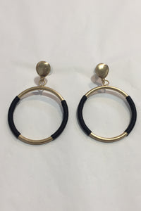 Four Corners Gold and Black Earrings