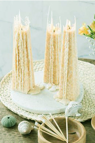 Living Light Icicle Candle White Lily