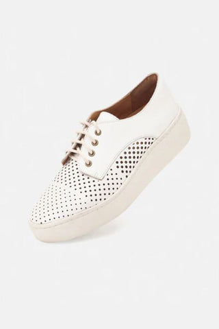 Rollie Derby Leather Shoe in White City Punch