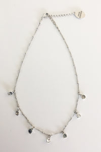Four Corners Raindrop Silver Necklace