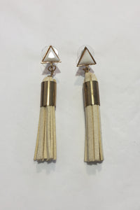 Jewellarto Vanilla Tassel Earrings