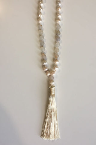 Olive Tiger Adelise Necklace Ivory