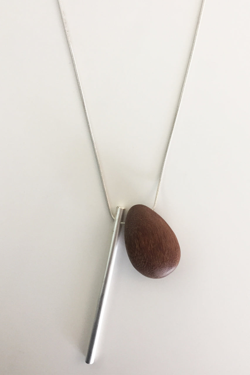 Jellico Wood Drop Necklace