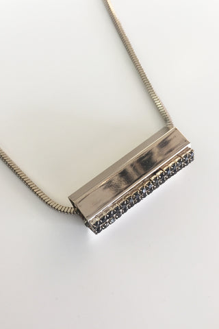 Four Corners Diamante Bar Necklace