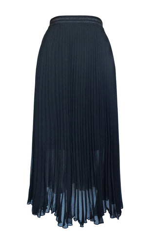 Random Label Midi Pleat Skirt