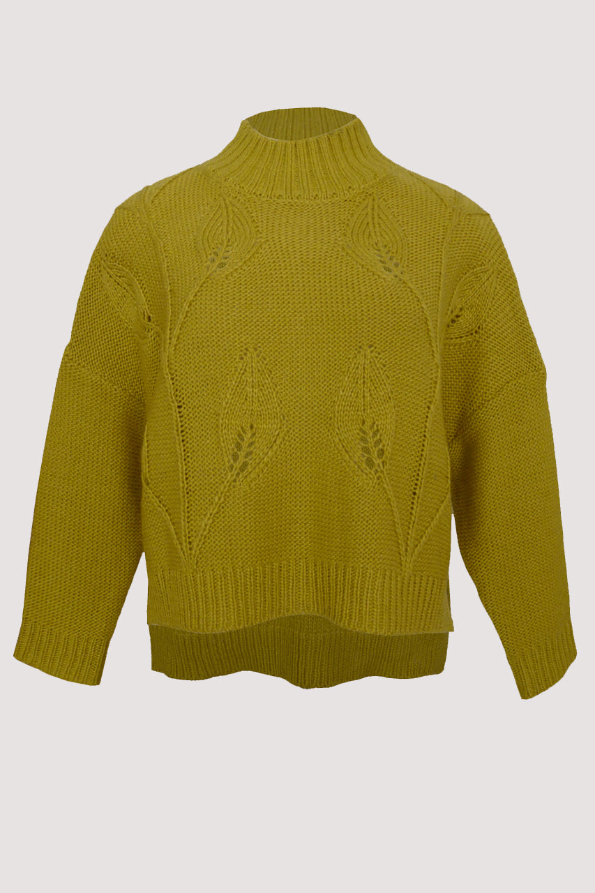 Random Label Leaf Sweater