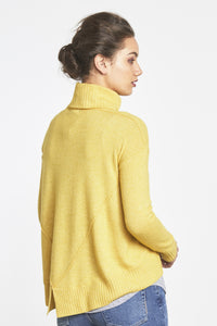 Random Label Mustard Sweater