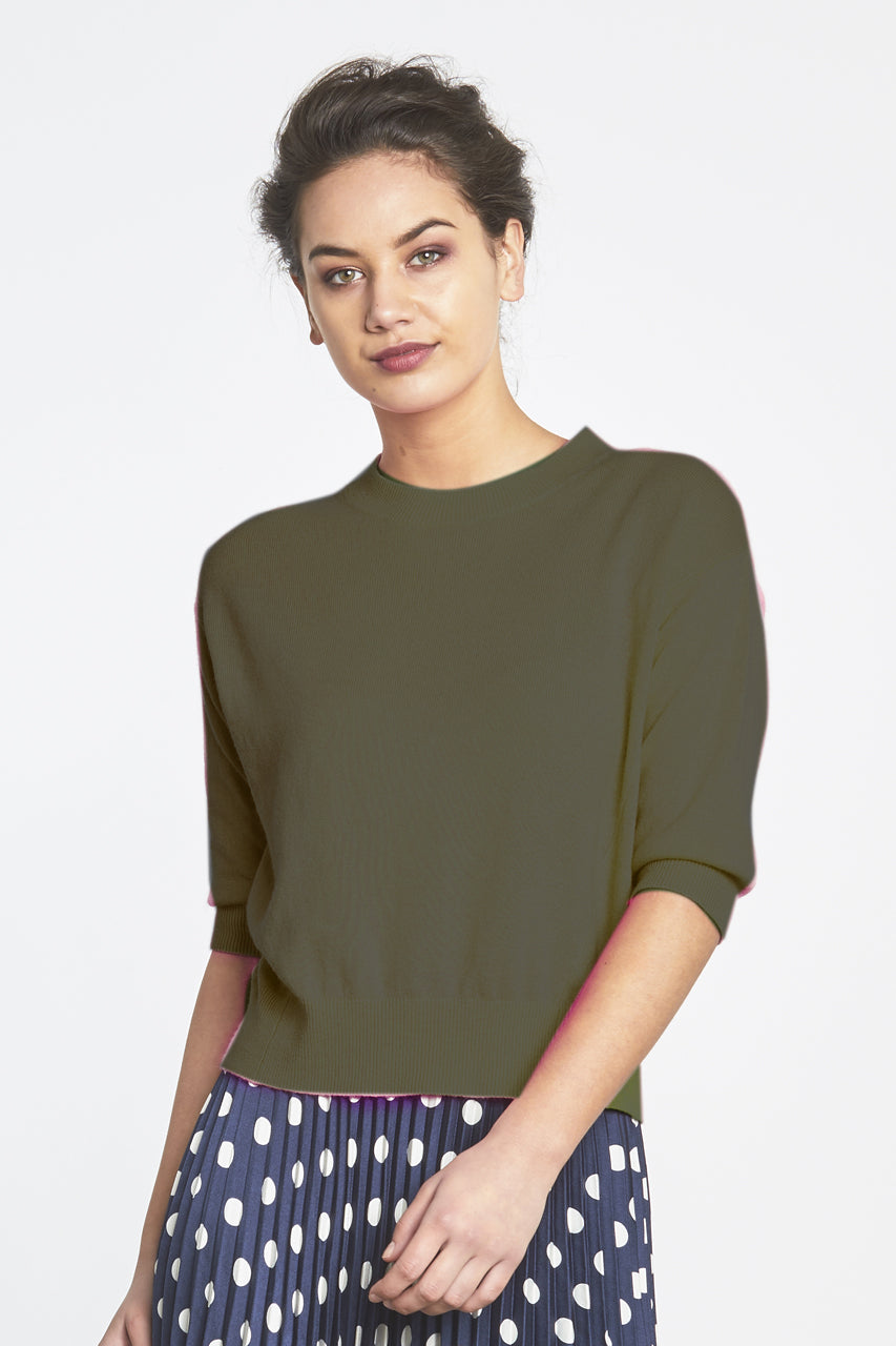 Random Label Ayla Cropped Sweater