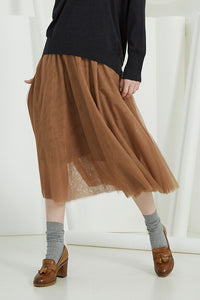 Sills Paloma Tulle Skirt in Camel