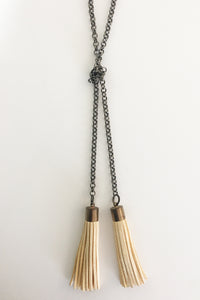 Jewelarto Vanilla Tassel Necklace