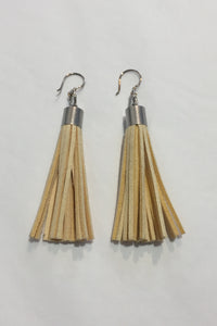 Kube Vanilla Tassel Earrings