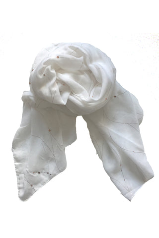 Free Spirit Constellation Scarf in White
