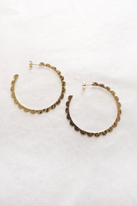 Fabienne Petal Hoop Earrings