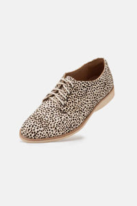 Rollie Derby Leather Shoe in Snow Leopard