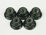 AW-LNF4BK - M4 Alloy Flange Nylon Nut Black (5 pcs)