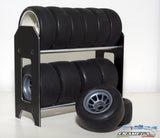 Black Aluminium Tires Storage Rack