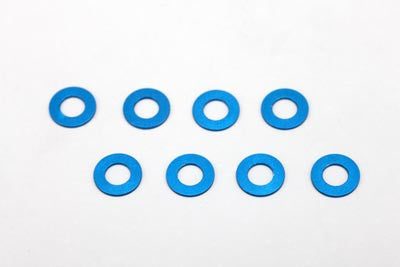 ZC-A3605 - 3×6×0.5mm Aluminum Shim (8pcs·Blue)