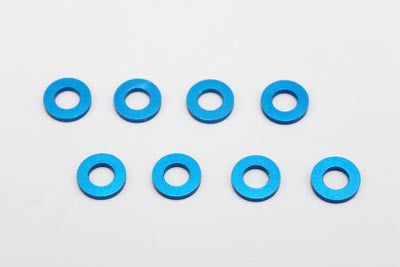 ZC-A3620 - 3?6?2.0mm Aluminum Shim ?8pcs?Blue?