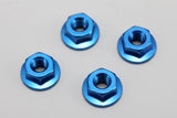 ZC-N4FBL Aluminum Flanged Nut Blue 4pcs