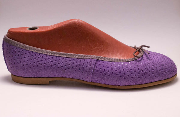 Dotted purple leather