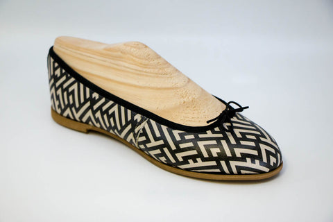 Aztec print leather