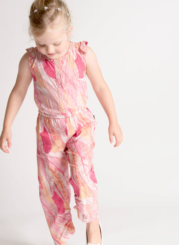 Coral Quill FEATHER JUMPSUIT