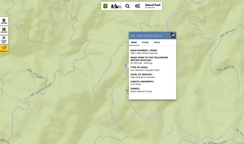 US Forest Service Interactive Trail Map - Quadra