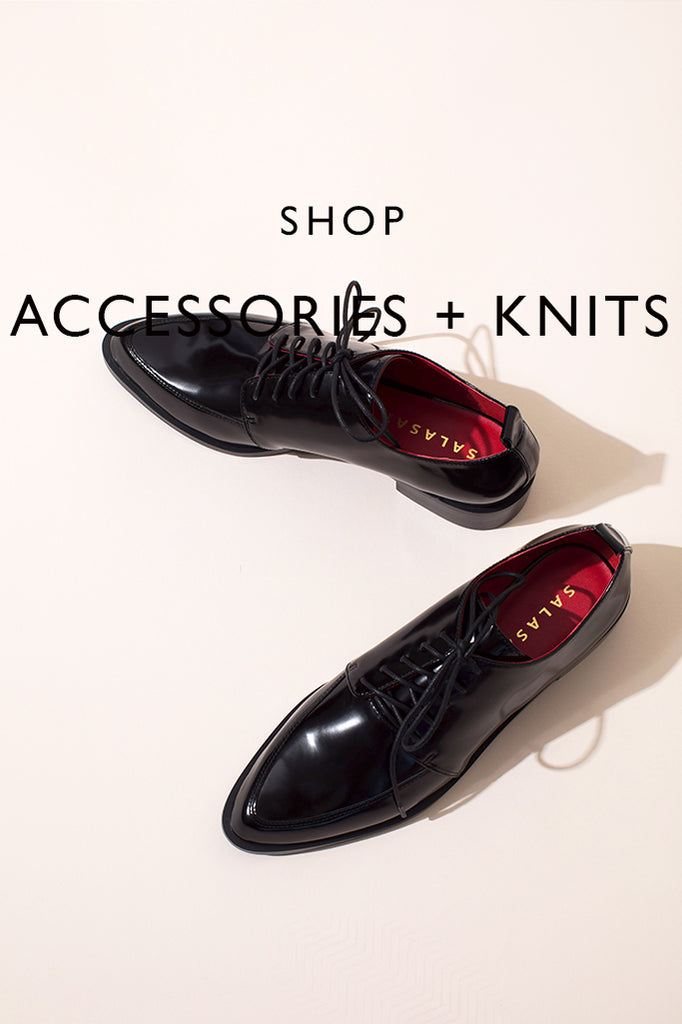 SHOP ACCESSORIES AND KNITS