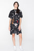 CREATURES TEE DRESS - BLACK CHAIN N HOUND PRINT