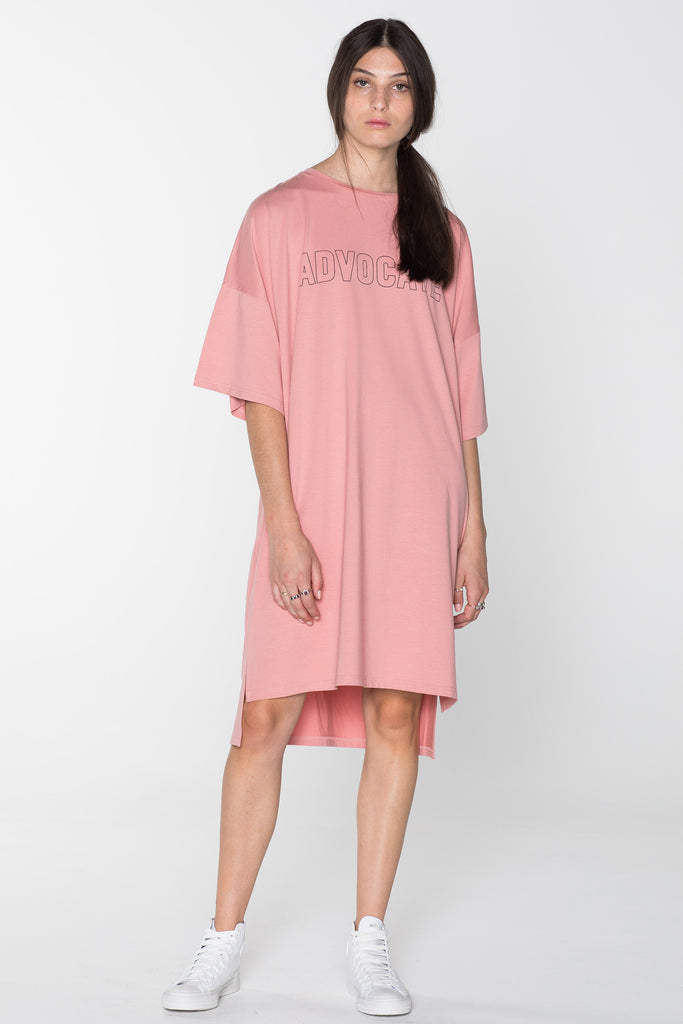ADVOCATE TEE DRESS-PINK