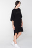 ADVOCATE TEE DRESS- BLACK