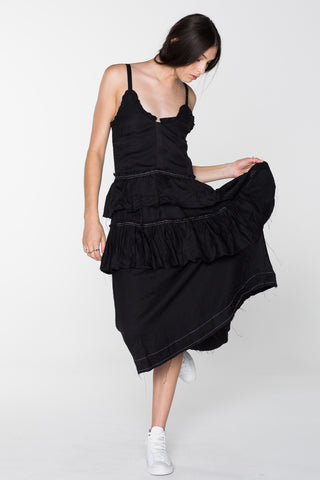 WILDLIFE DRESS - BLACK
