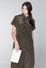 GORILLA SHIRT DRESS - KHAKI