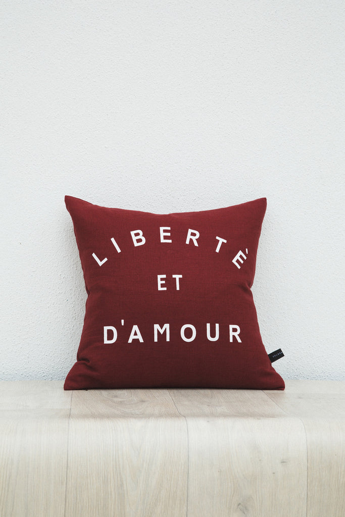 Liberte Cushion-Burgundy