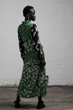 FLORA IN CHAINS DRESS - GREENERY/BLACK ROSE